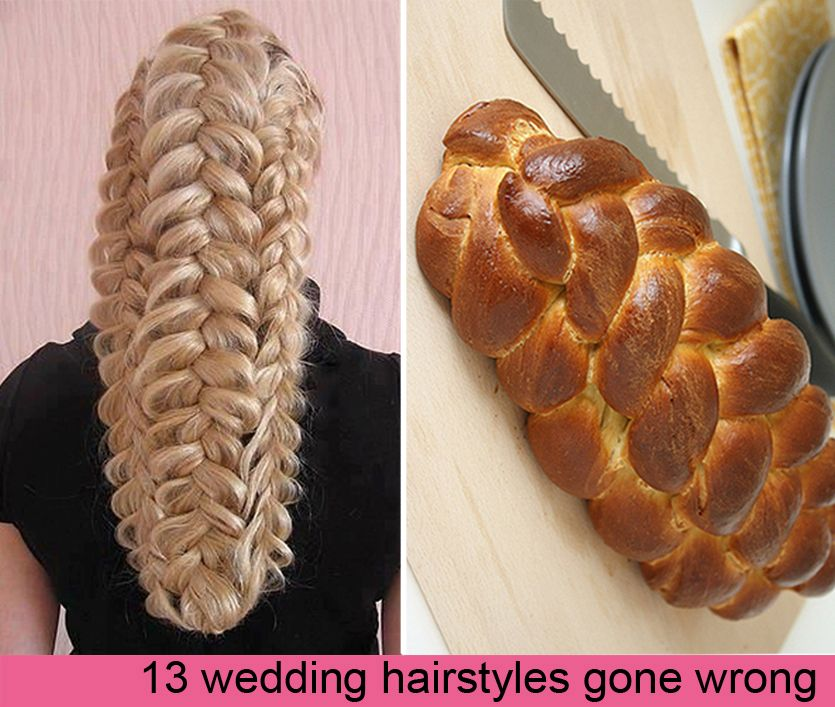 13 Epic Wedding Hair Fails Hair Fails Wedding Makeup For Brown Eyes Wedding Hairstyles