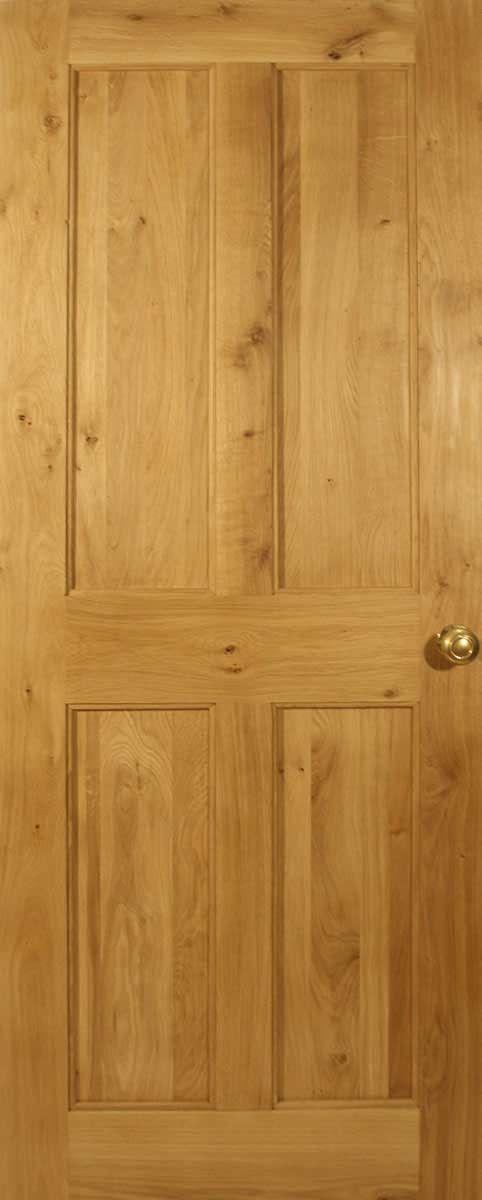 Victorian 4 Flat Panel Solid Oak Door | Solid oak doors, Oak doors ...