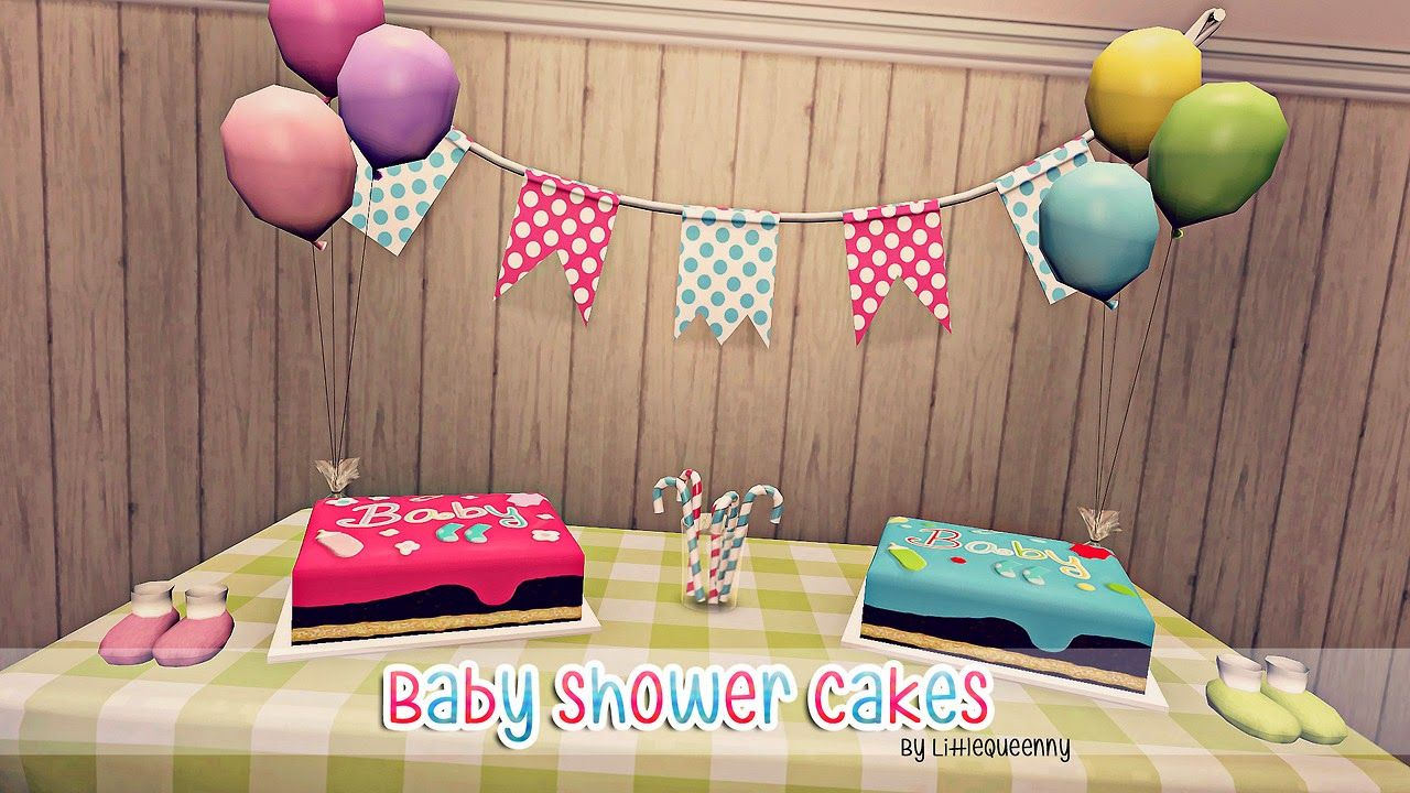 Baby Shower Sims 4 ~ My sims baby shower cakes by littlequeenny