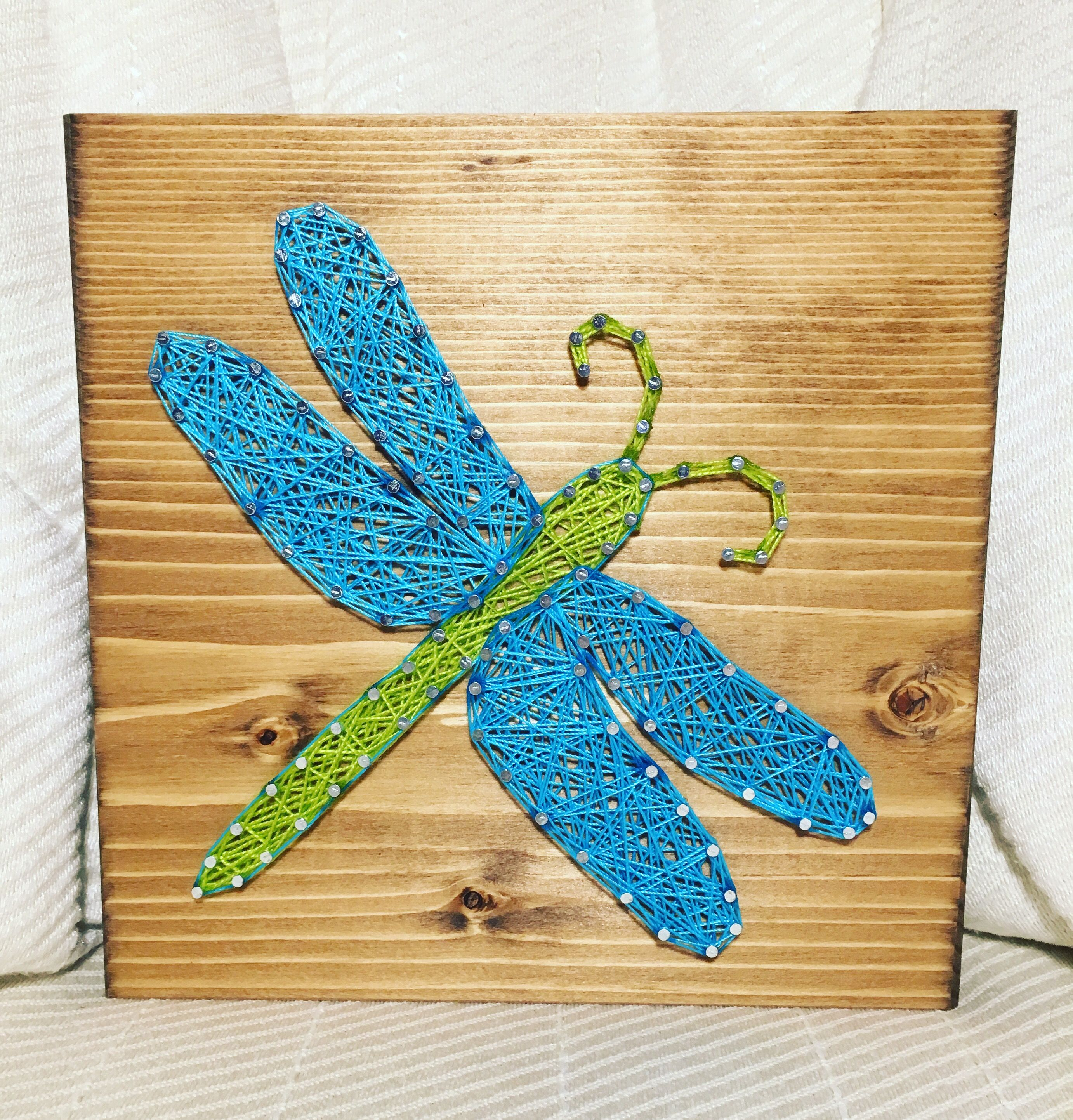 Dragonfly String Art, Insects And Bugs Order From Kiwistrings On