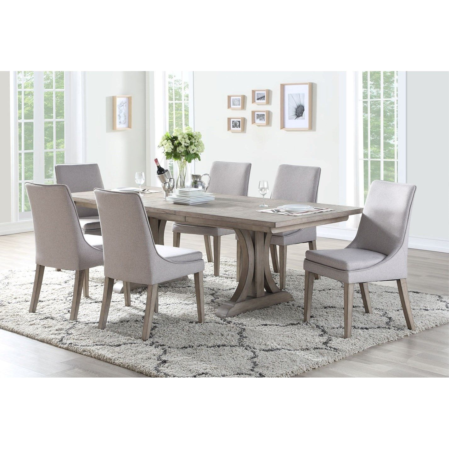 Xena Transitional 7 Pc Dining Set By Winners Only Dining Room