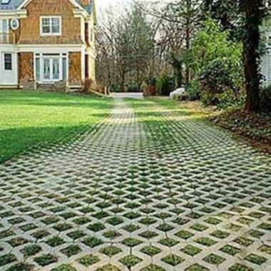Mix in porous pavers with reclaimed brick pavers and wood for turf paver driveway down to the pole barn solutioingenieria Choice Image