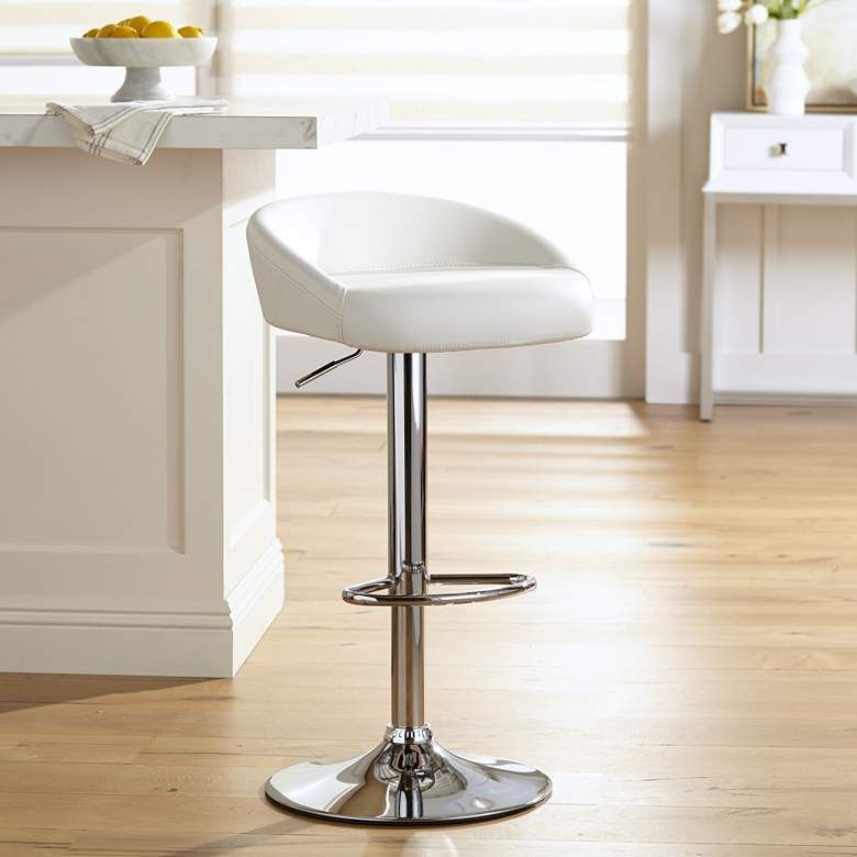 39 Beautiful Adjustable Bar Stools White Kitchen In 2020 Adjustable Bar Stools Swivel Bar Stools White Bar Stools