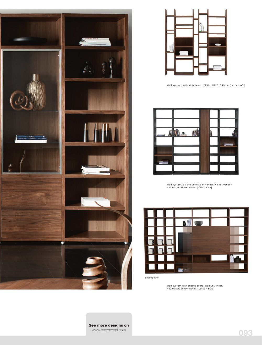 Boconcept Bookcase: Bo Concept - Wall Design With Sliding Doors