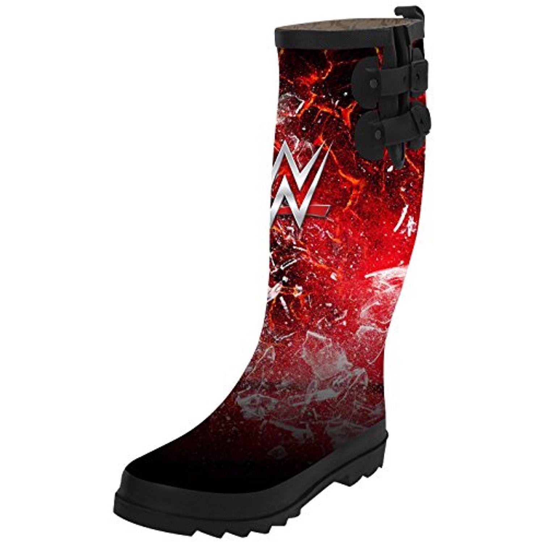 Waterproof Rain Boots Outdoor Women Mid-Calf Rain Footwear Booties