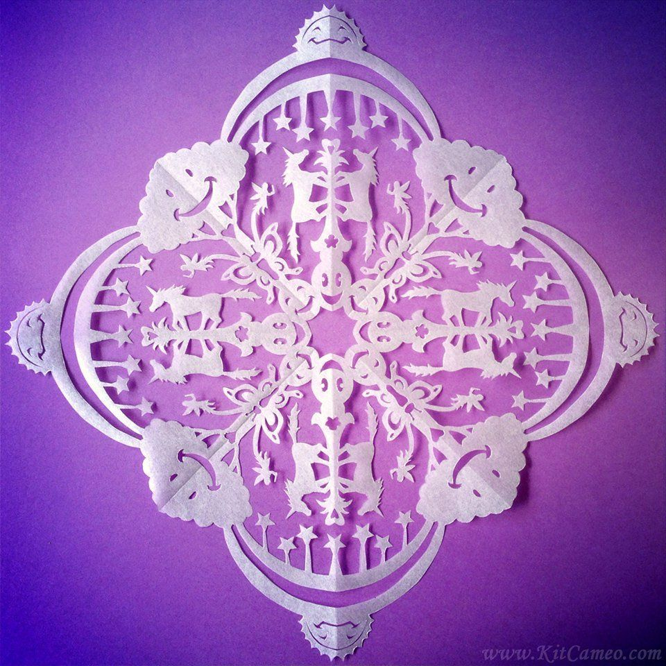 unicorn snowflake template  Unicorn | Snowflake template, Snowflakes, Snowflake designs