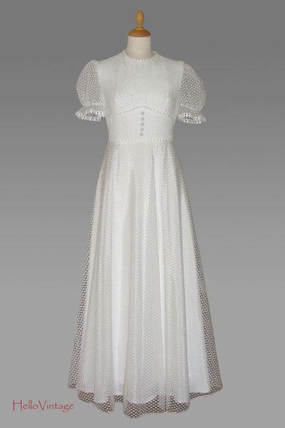 süßes 50er Tupfen Tüll Brautkleid, S