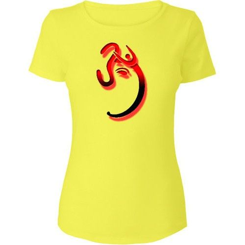 Swastika symbol of Ganesh Design Printed cotton t shirts online ...