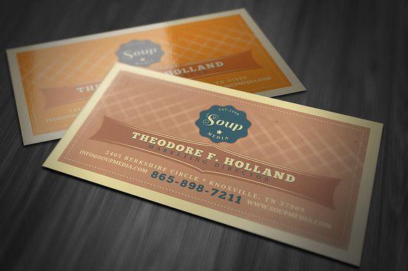 Retro Business Card Template Retro Business Card Business Cards Creative Business Card Template Design