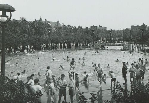 Eckhart Park Outdoor Swimming Pool C 1909 Chicago Pictures