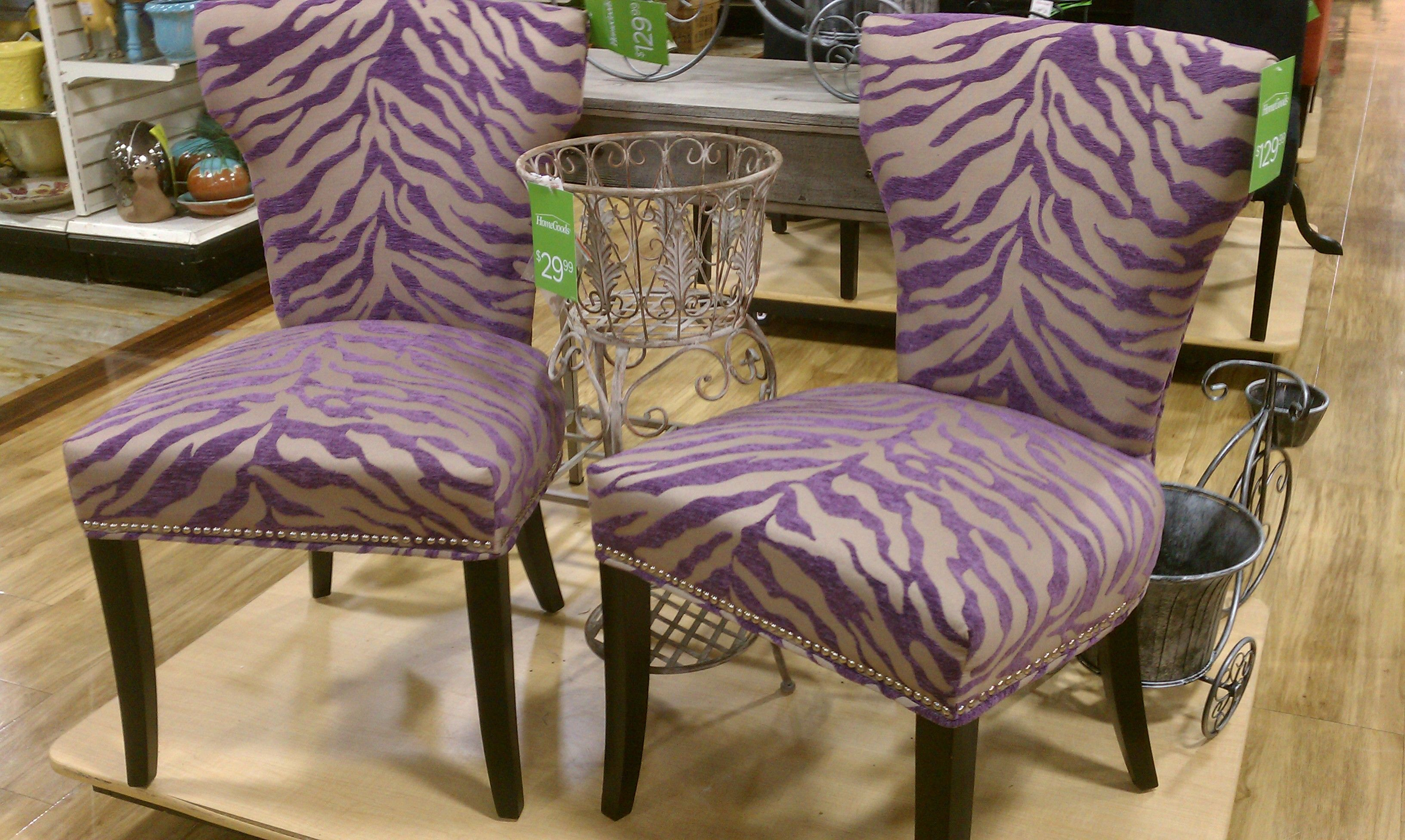 Zebra Dining Chairs Fishing Chair Side Tray Print Home Goods Funky