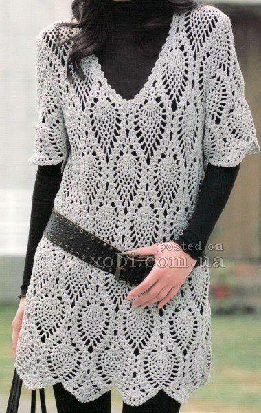 CARAMELO DE CROCHET: vestido túnica para usar con mallones   Crochet ...