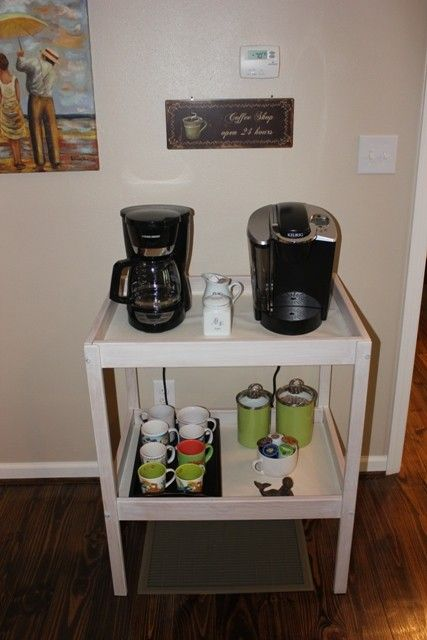 Ikea Changing Table Repurpose To Coffee Station