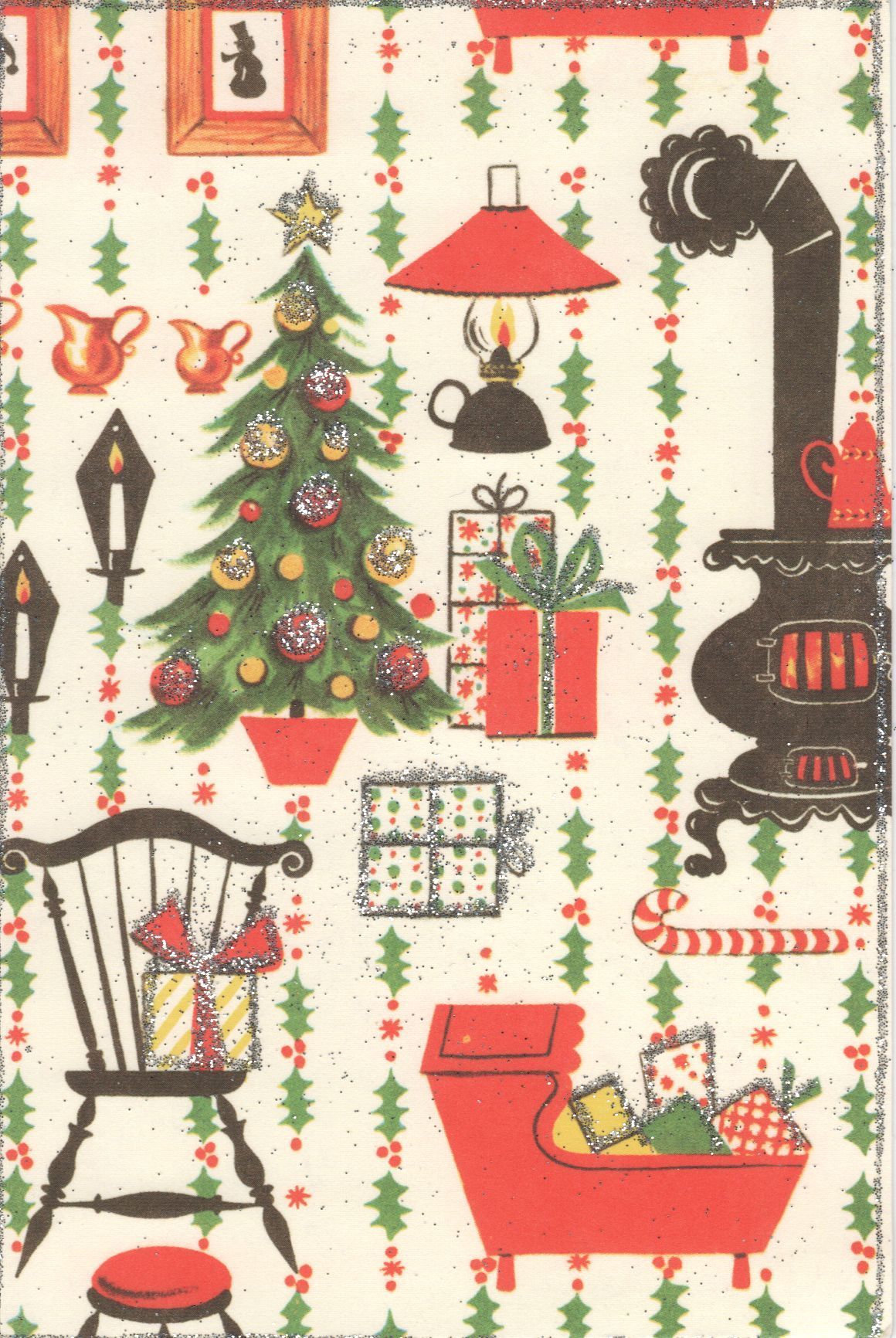 cute vintage Christmas design