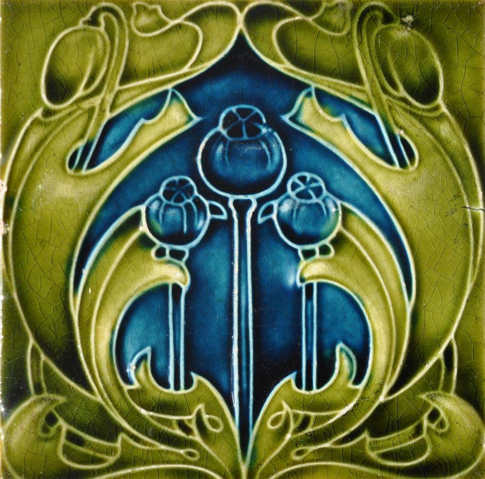 Lea & Boulton c1906/1908 - RS0809 - Art Nouveau Tiles