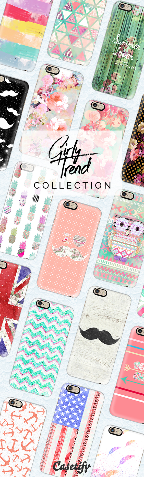 What's trending among the #girls? Shop for our #GirlyTrend collection here: https://www.casetify.com/girlytrend/collection | @casetify