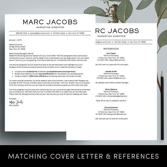 Modern Resume Template - CV Template for Pages, Word Professional