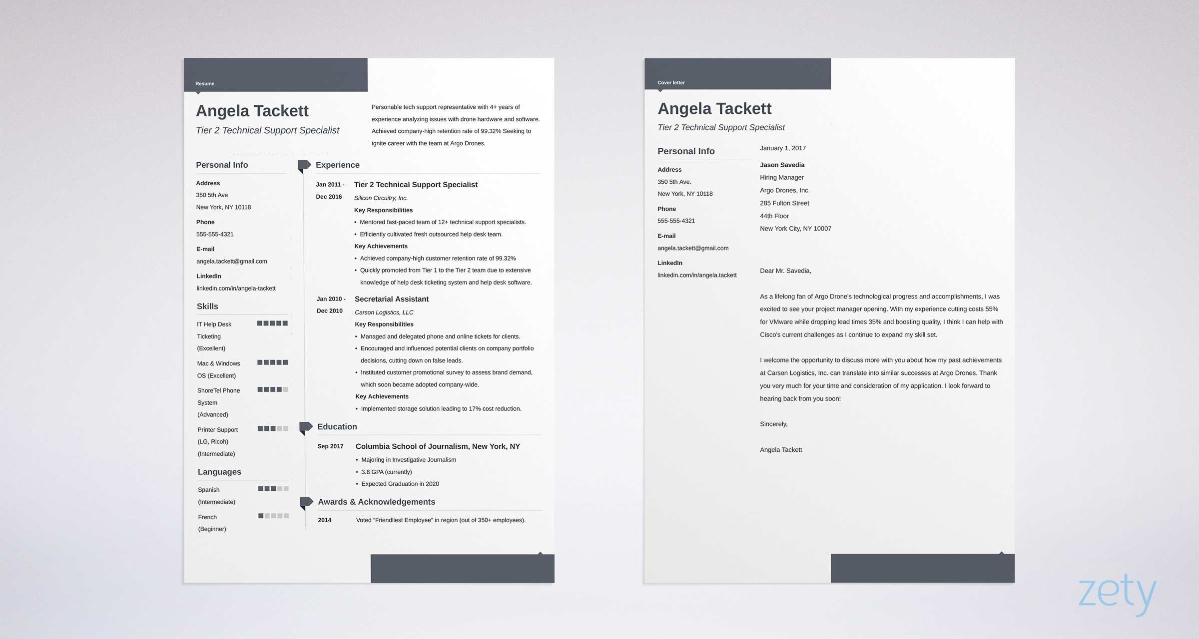 matching set of resume and cover letter | Resume cover ...