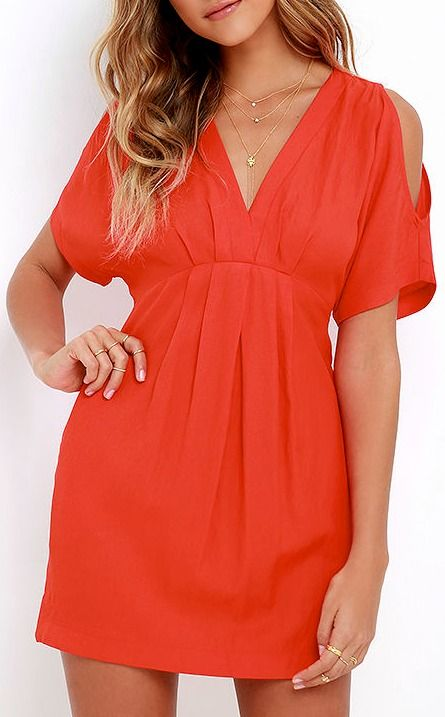 93c498c92f7 Game Changer Coral Red Dress