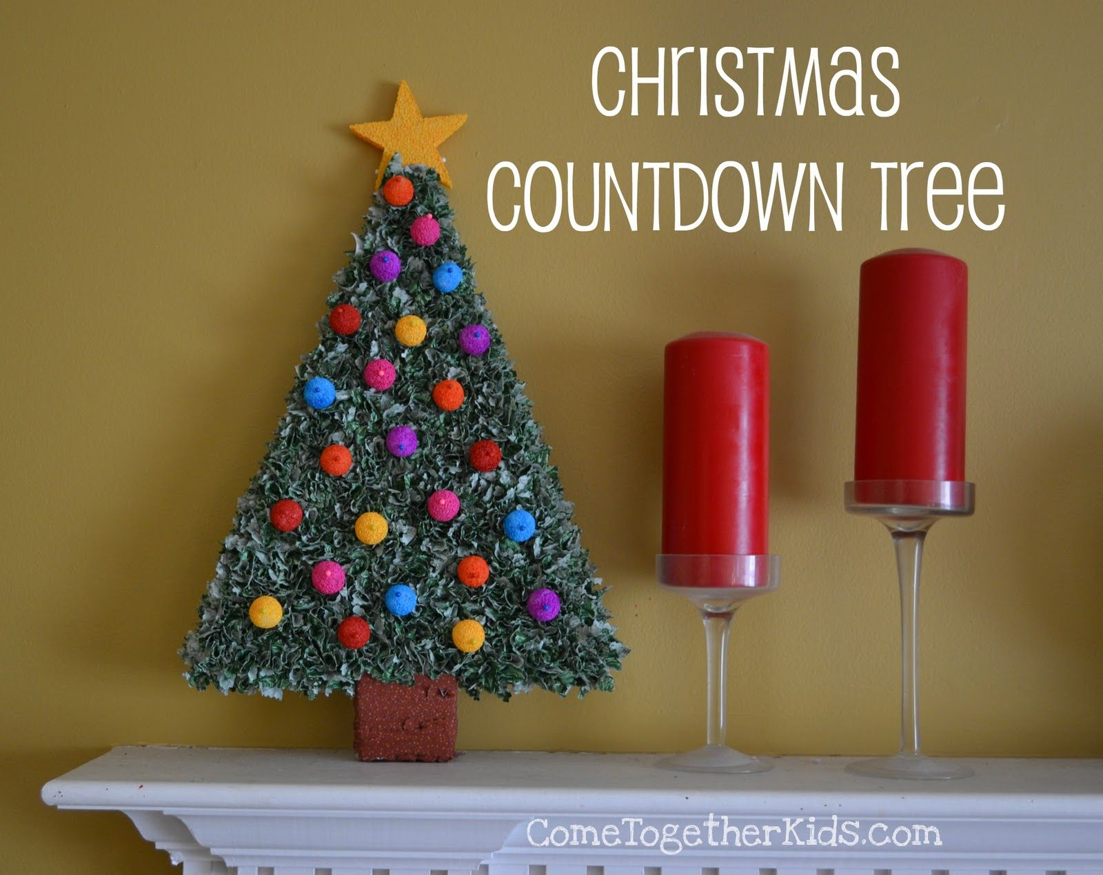 Marvelous Countdown To Christmas Craft Ideas Part - 10: Christmas Countdown Tree Featuring Laura From Come Together Kids {Handmade  Holidays Project No.5