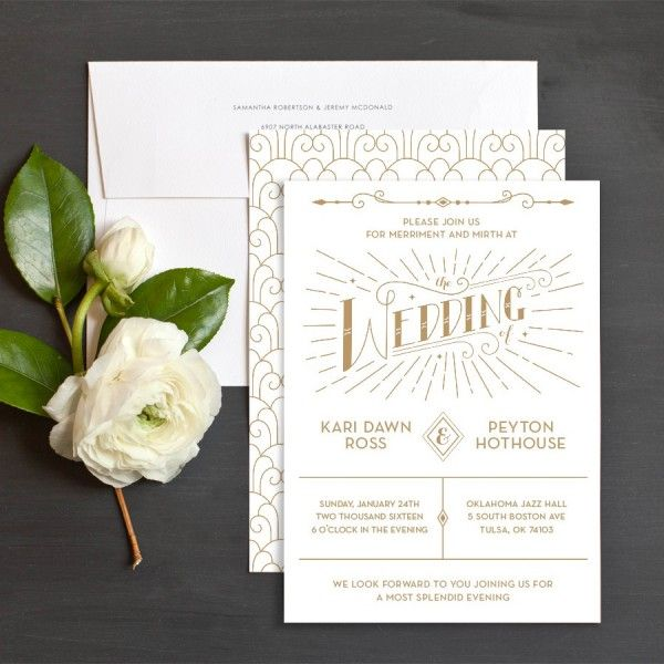 Wedding Invitations Tulsa Ok | Charming Deco Wedding Invitations By Amanda Robertson Elli