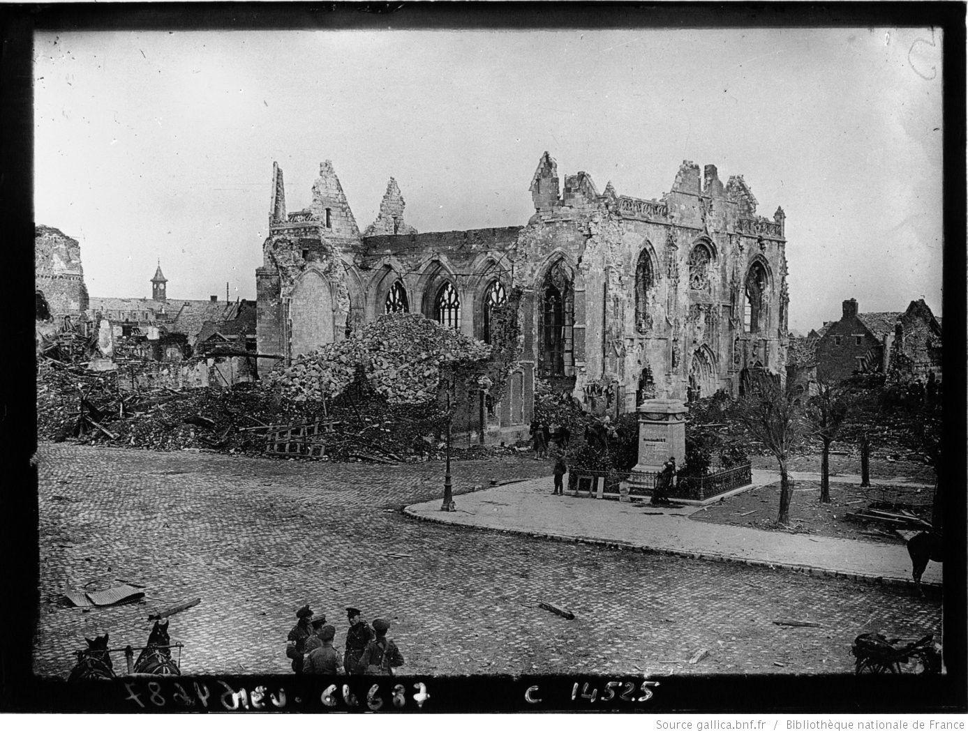 Péronne, la cathédrale : [photographie de presse] / Agence Meurisse | Gallica