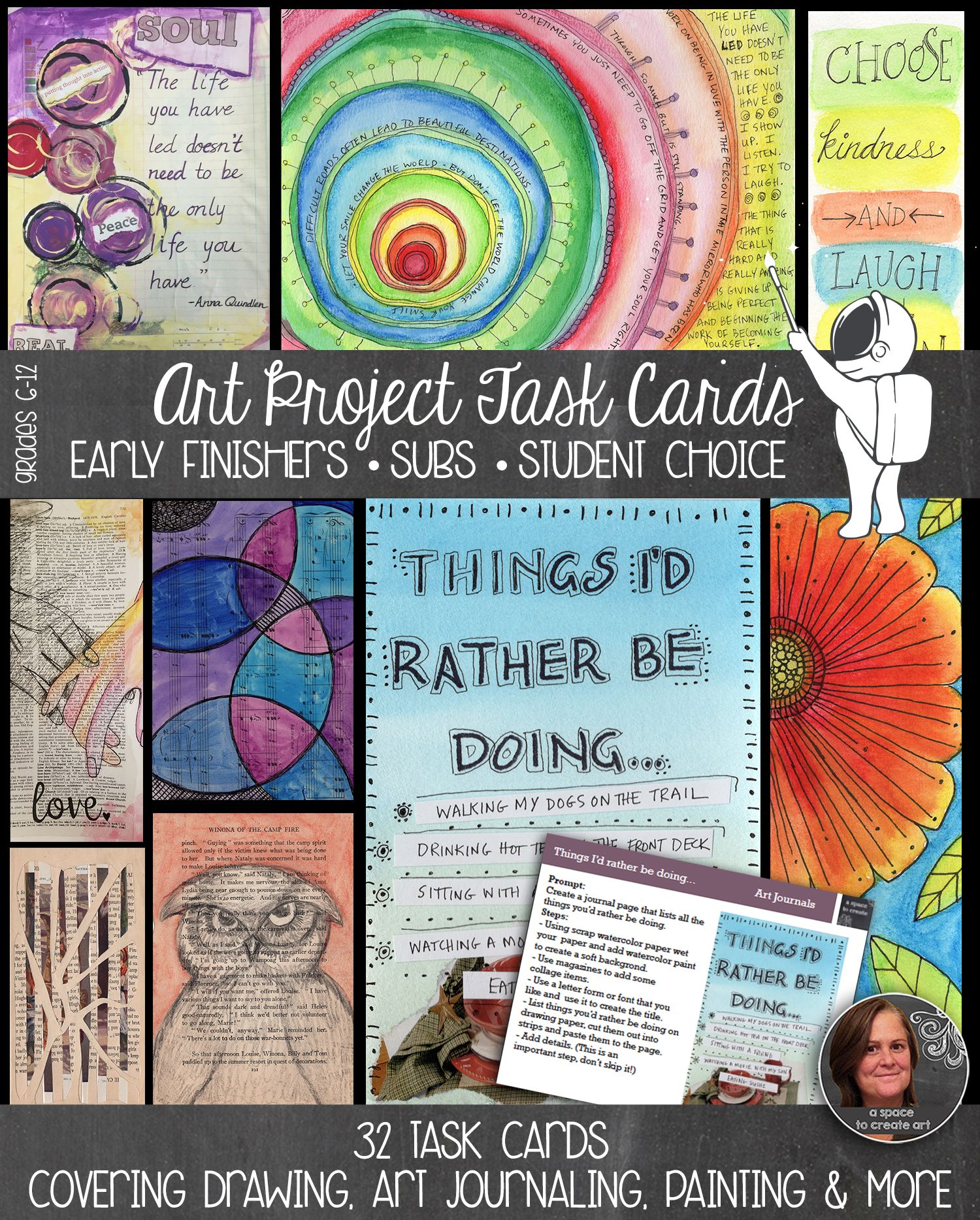 Art Task Cards For Early Finishers