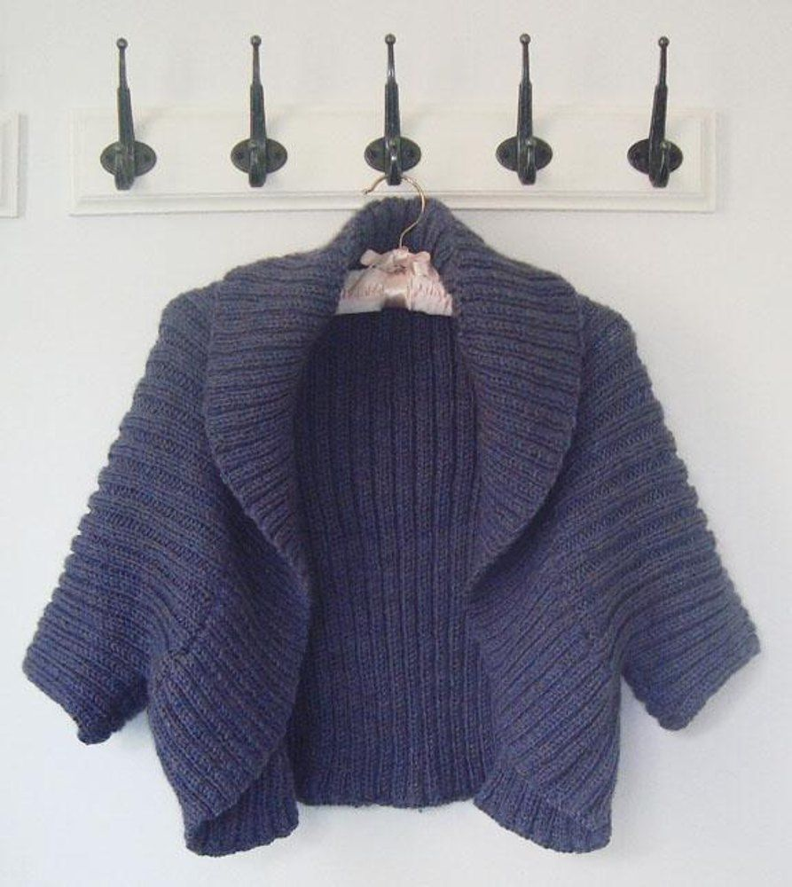 28f47b559a4c So quick and easy to knit.This fabulous shrug looks equally stunning worn  with jeans or dressed up for the evening and because of the elasticity of  the ...