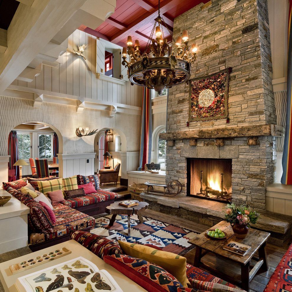 Cottage Living Room With Fireplace decorate your cottage for the exciting fall season | cottage