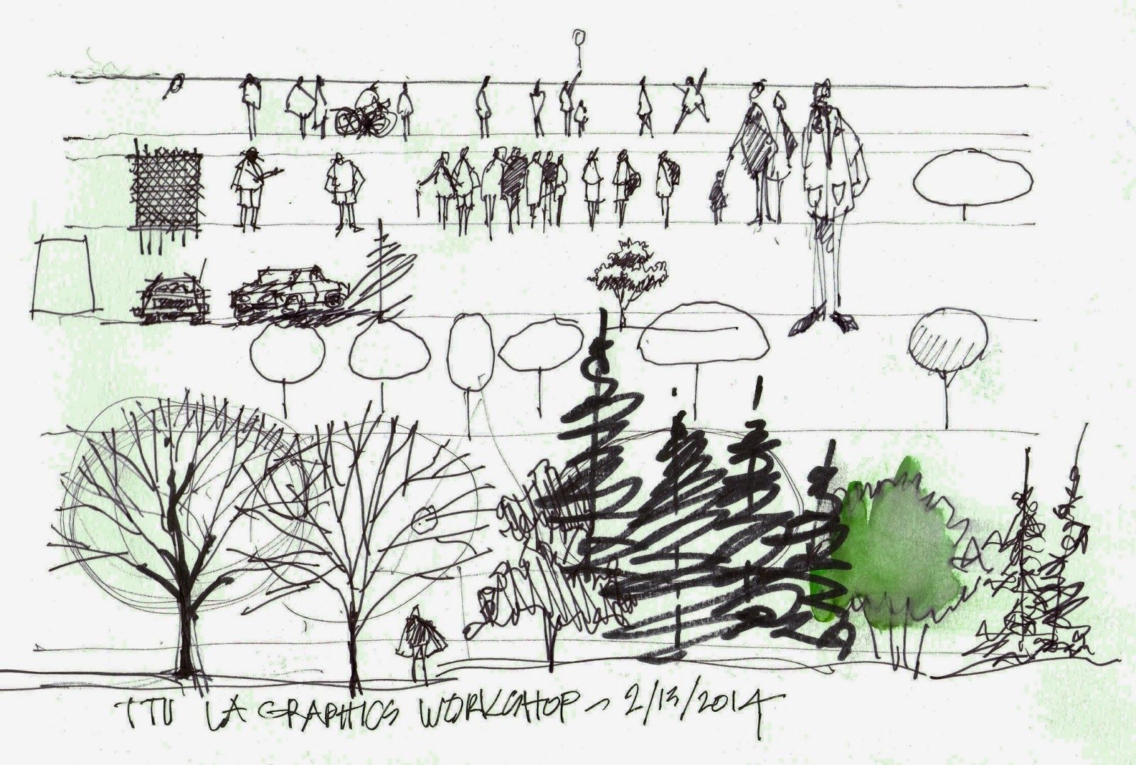 Landscape Architecture Section Drawings landscape architecture drawing techniques color - google search