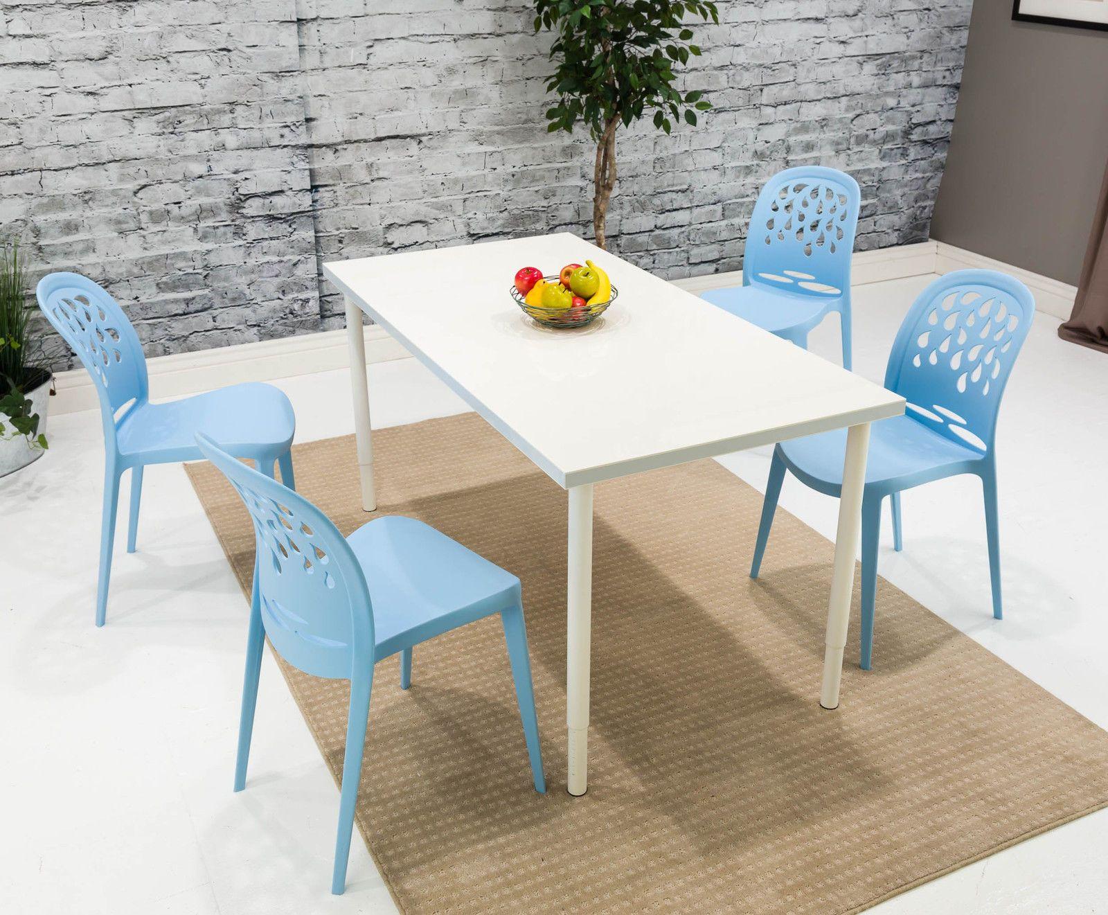 Sedie Blu ~ Atomic blue retro mid century mod teardrop dining chair set of