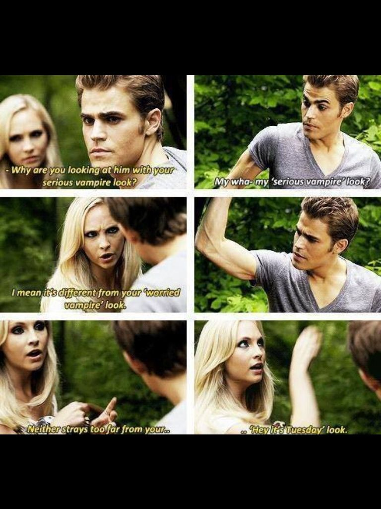 Hahaha Typical Caroline With Images Vampire Diaries Funny