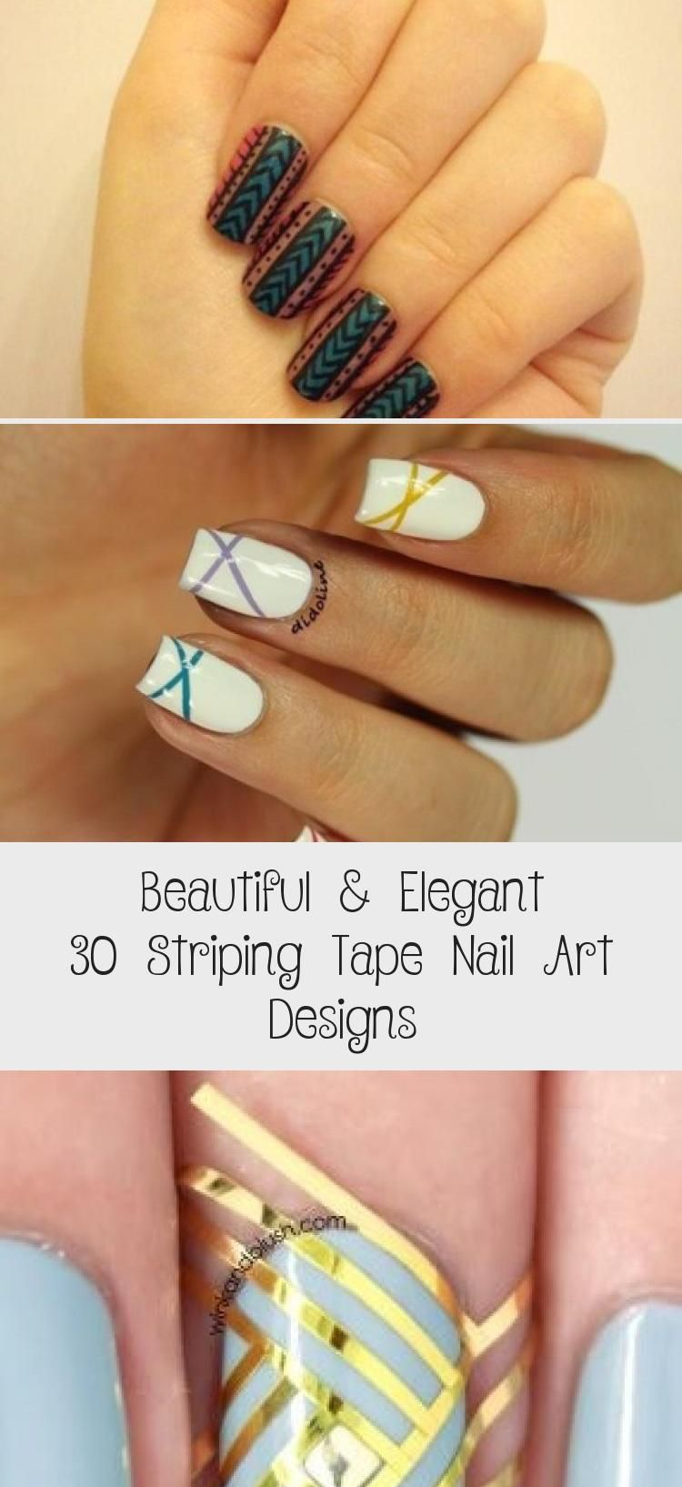 Photo of Beautiful & Elegant 30 Striping Tape Nail Art Designs – Nail Art