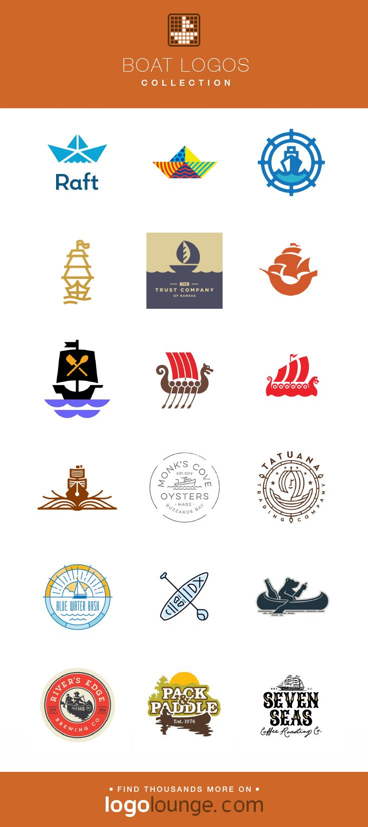 Logo Collection Boat Vector Logo Designs Sails Water Waves