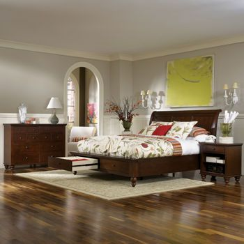 Costco: Ashfield 4 Piece Queen Storage Bedroom Set