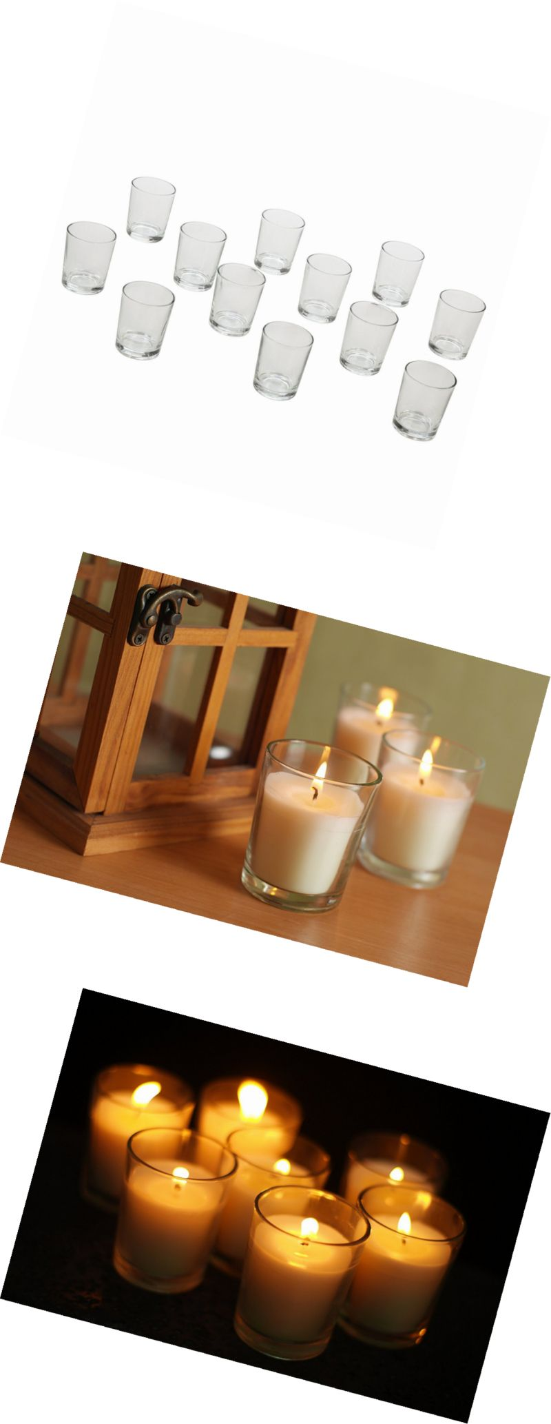 Candle holders and accessories hosley s set of crystal