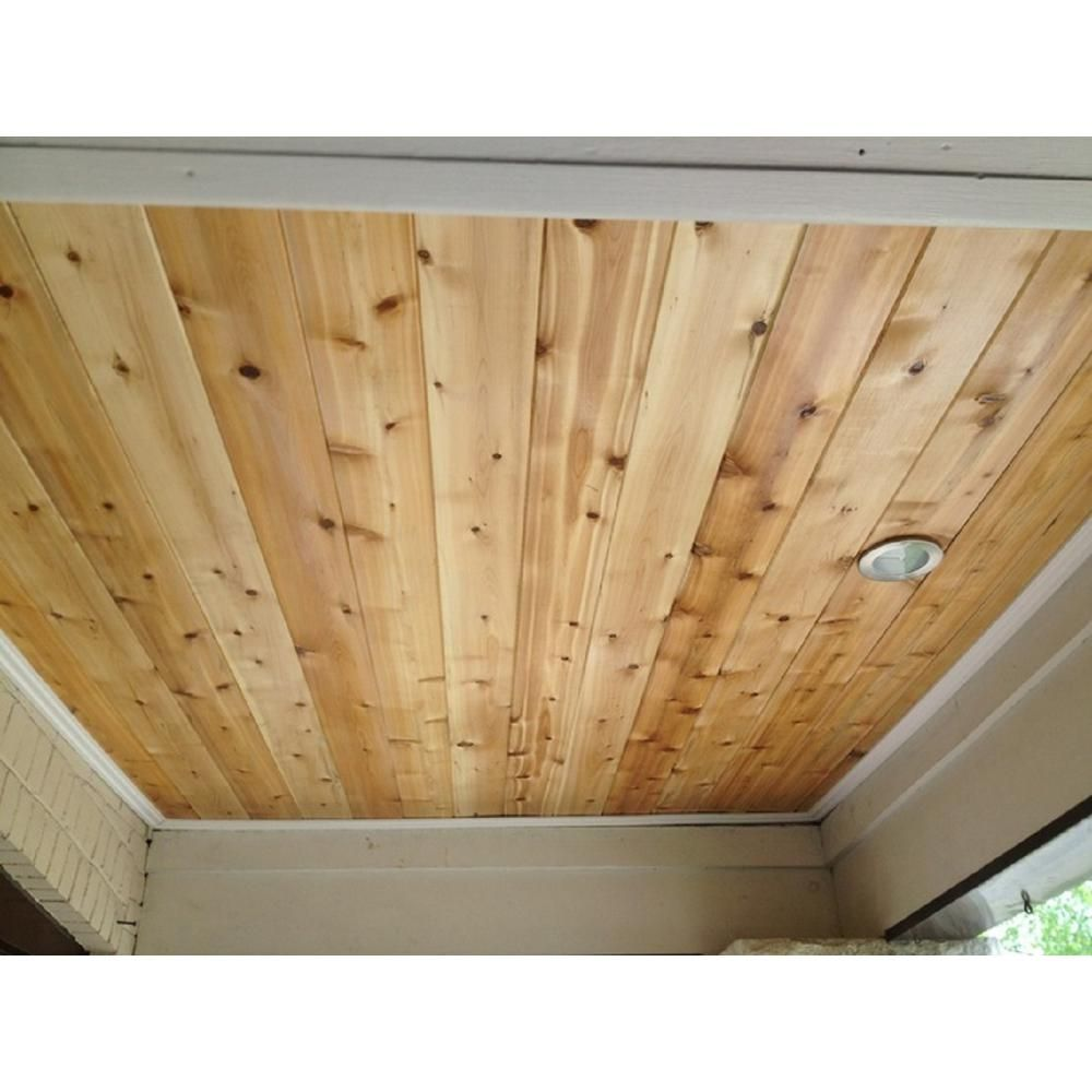 1 In X 6 In X 8 Ft Pattern Stock Cedar Tongue And Groove Siding 6 Pack 168wrctg6pk The Home Depot Tongue And Groove Ceiling Cedar Tongue And Groove Wood Plank Ceiling