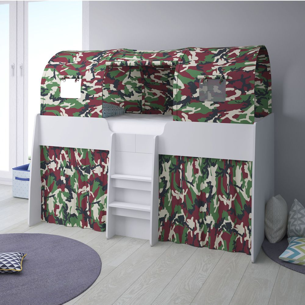 A tent for our loft station cabin bed which turns it