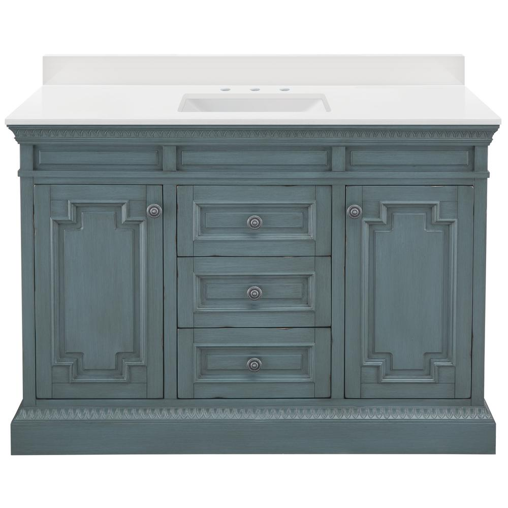 Home Decorators Collection Cailla 49 In W Vanity In Distressed