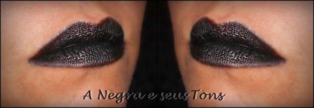 Batom preto -- faça você mesmo - A Negra e seus Tons