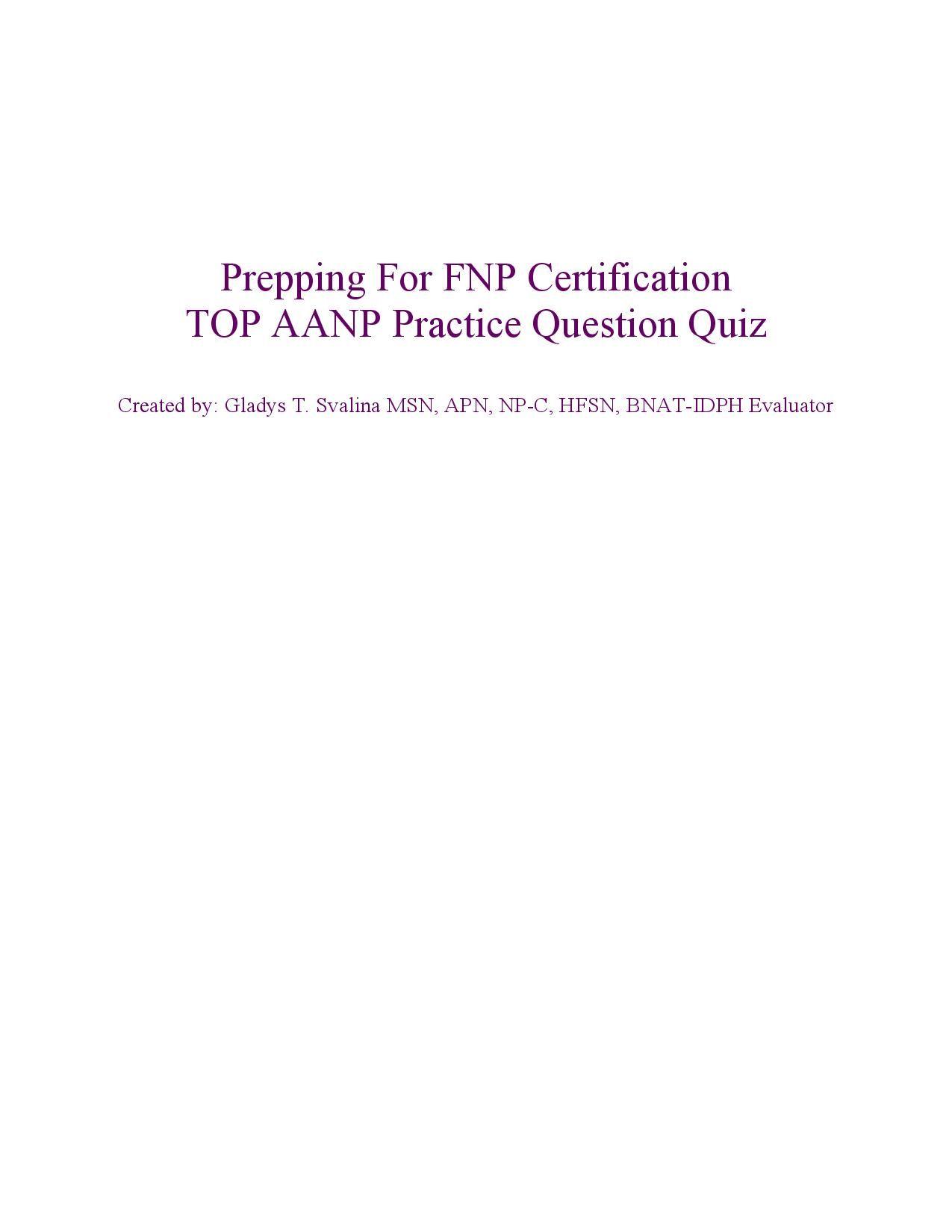 Top Aanp Practice Question Exam Httpwww