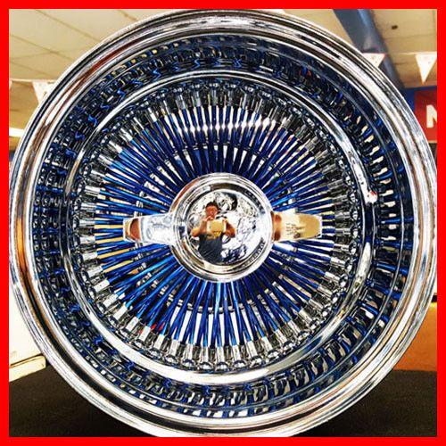13x7 Candy Blue 100 Spokes Wire Wheel Rev Sale Ebay Motors Parts Accessories Car Truck Parts Ebay Wire Wheel Ebay Truck Parts