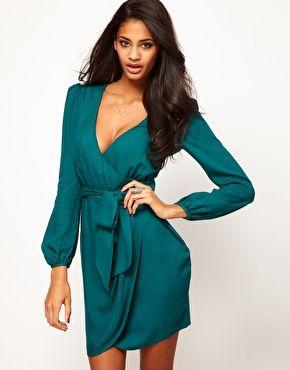 Wrap Dress With Tulip Skirt