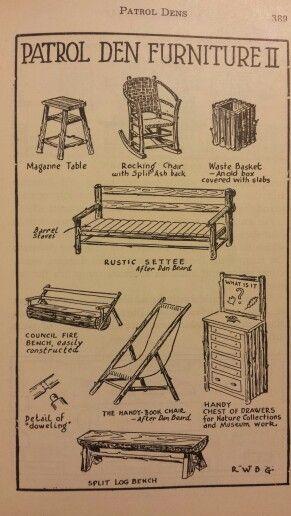Patrol Den Furniture 2 - Handbook for Patrol Leaders 1949