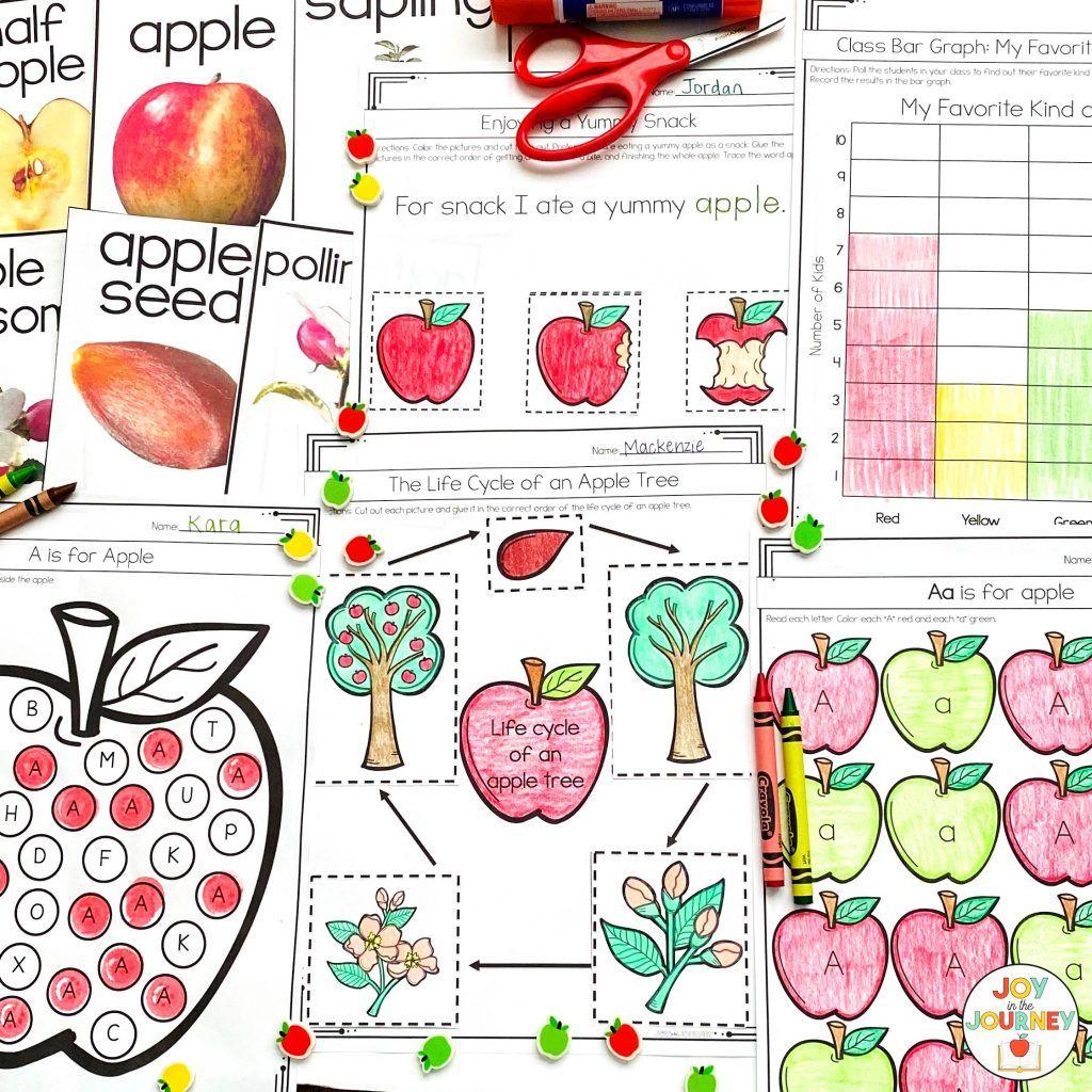 Free Apple Activities for K-2 Classrooms - Simply Creative Teaching in 2020    Apple activities [ 1024 x 1024 Pixel ]