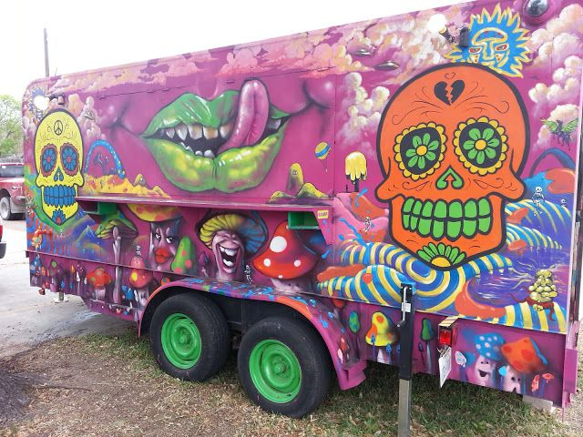 Art Music And Invention Awesome 3d Graffiti Food Truck By Grimnasty