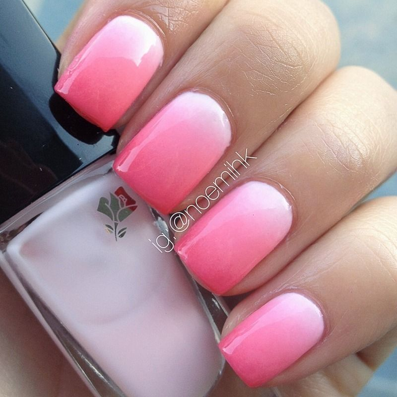 Pink Ombr Nail Art By Noemihk Nails Pinterest Ombre