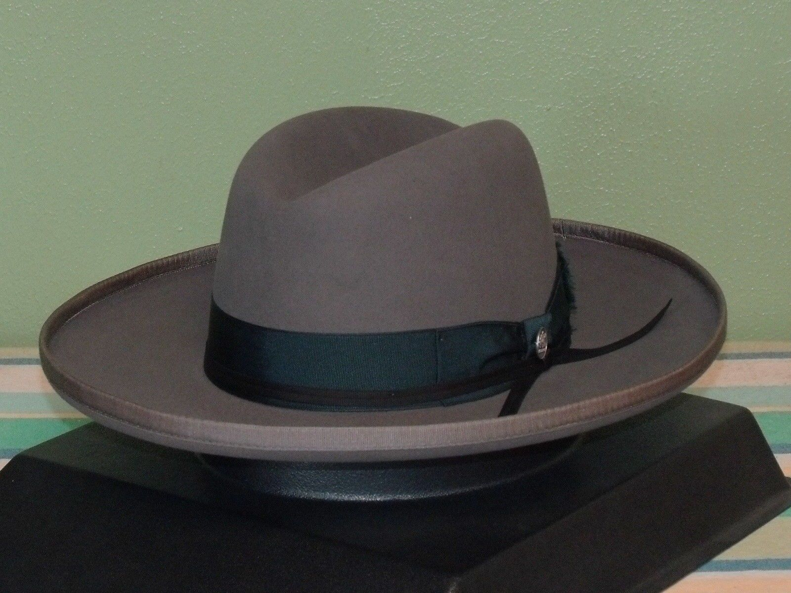 4554ae7ed Details about STETSON WEST BOUND B ROLLED BRIM ROYAL DELUXE FUR FELT ...