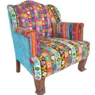 Boho indian made chair from karma living.. would be so cool to have