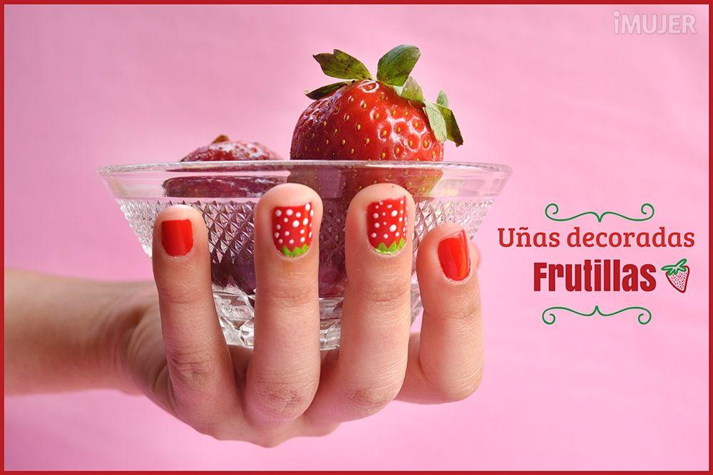 ¡Decora tus uñas como frutillas!